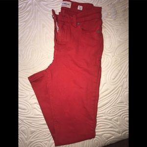 Lucky brand skinny red pants